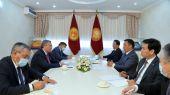 Президент Кыргызстана встретился с министром иностранных дел Казахстана