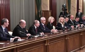 Владимир Путин провел встречу с членами Правительства