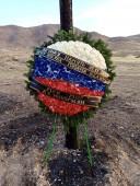 Делегация МГФ «Мир» возложила венки на месте гибели экипажа российского вертолета МИ-24 в Армении