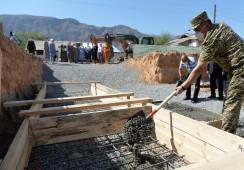 В Баткенской области начато строительство домов для семей погибших в ходе конфликта на кыргызско-таджикской границе